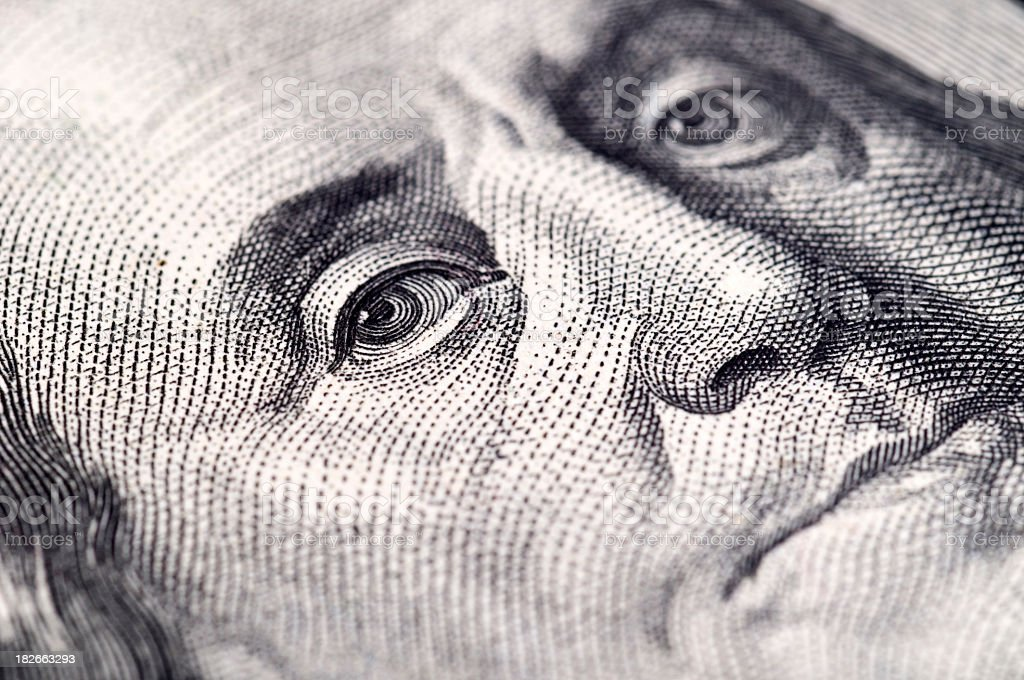 Us Dollar - Macro shot royalty-free stock photo