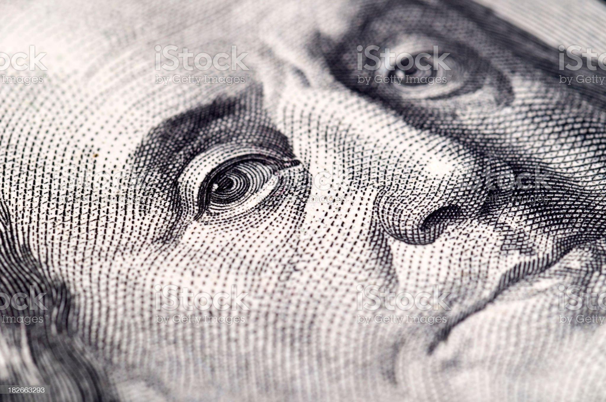 Us Dollar - Macro shot royalty-free stock photo