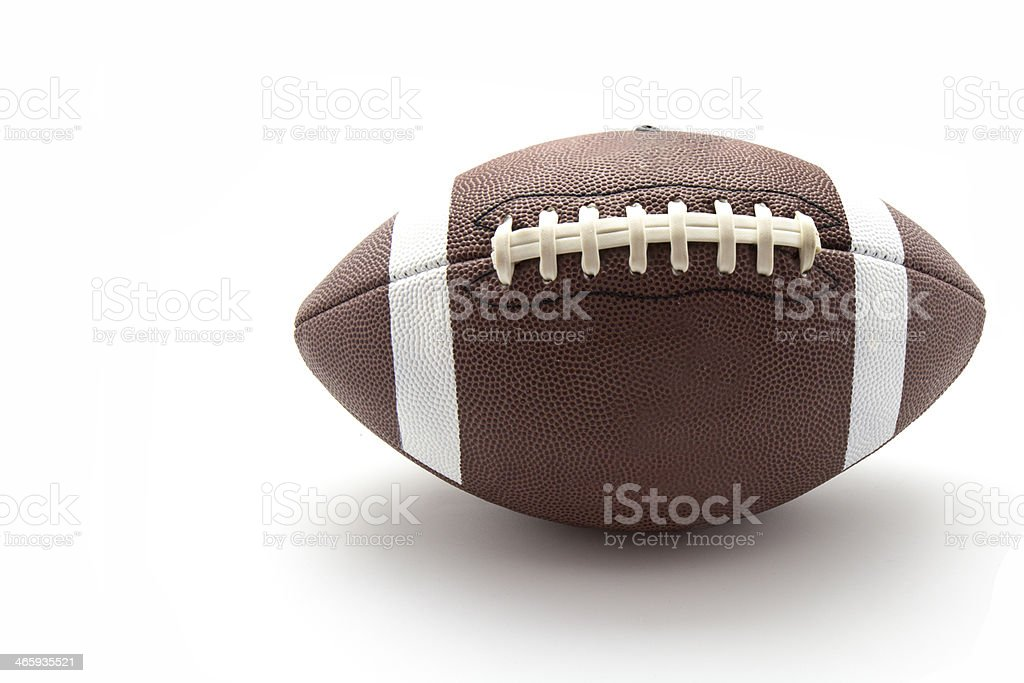 us football ball stock photo