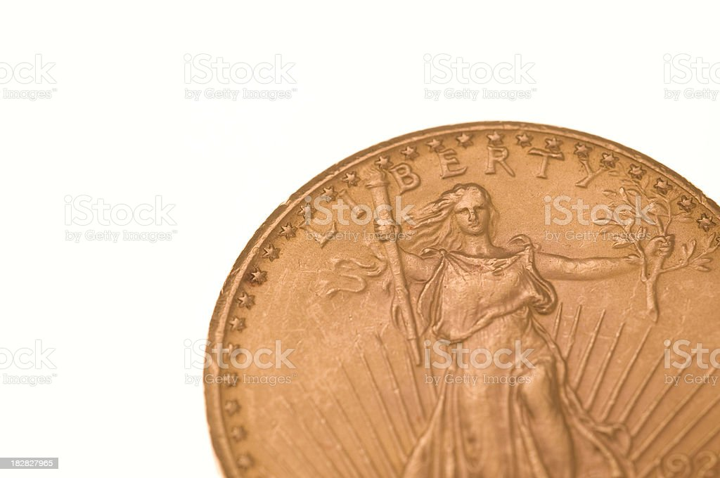 Us gold coin stock photo