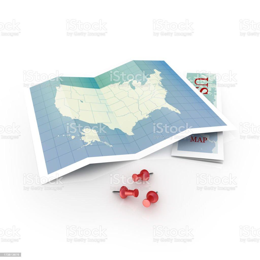 us map locator royalty-free stock photo