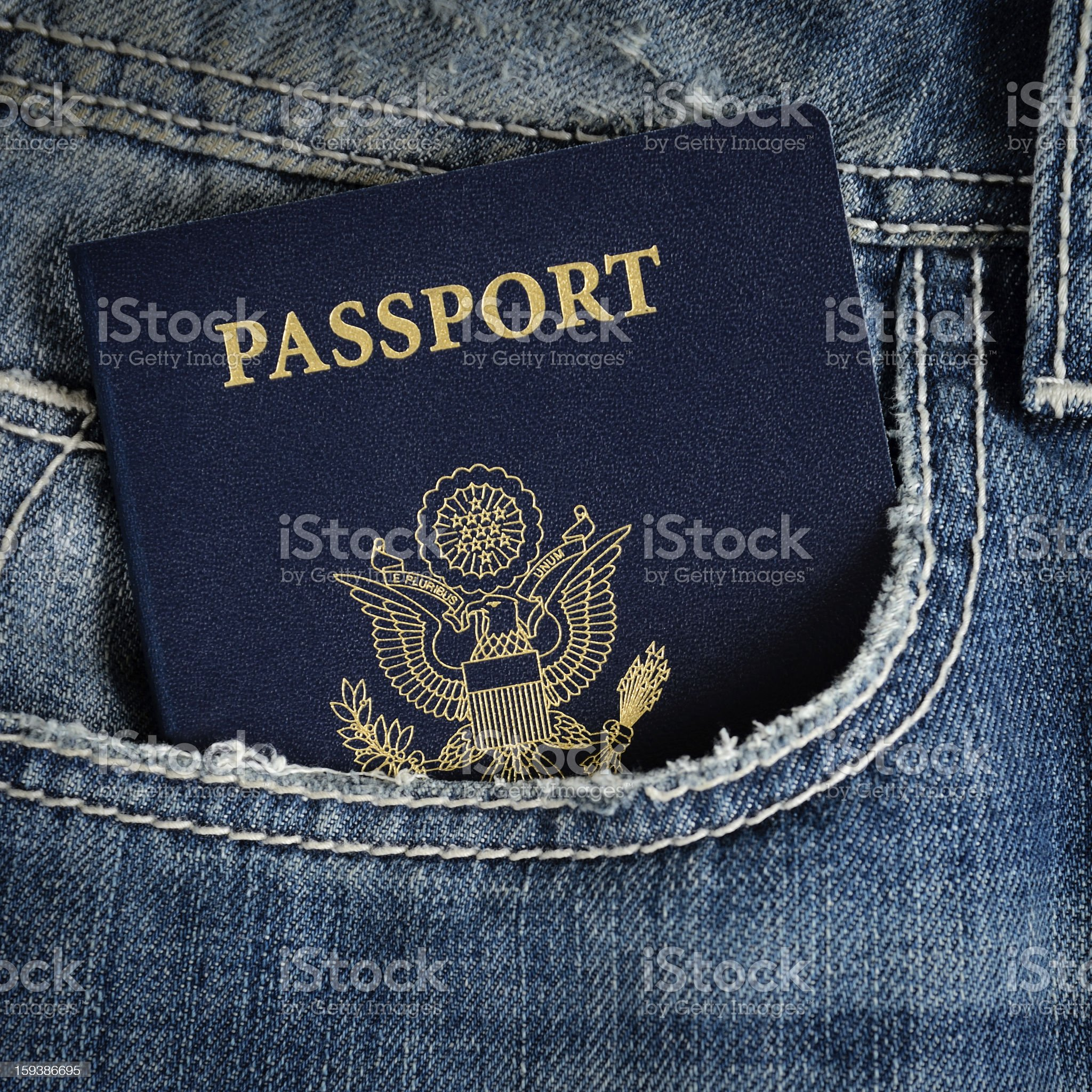 us passport in jeans royalty-free stock photo