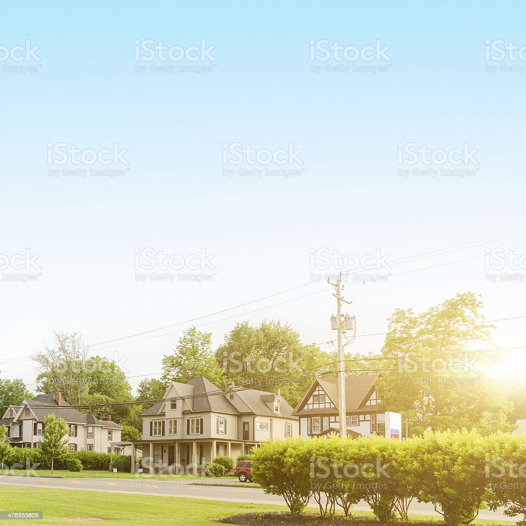 us residential cottage house royalty-free stock photo