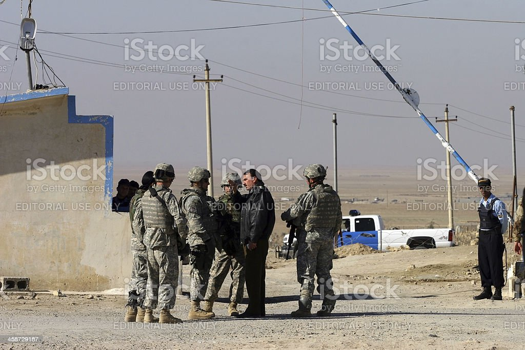 Us Soldier in Iraq. stock photo