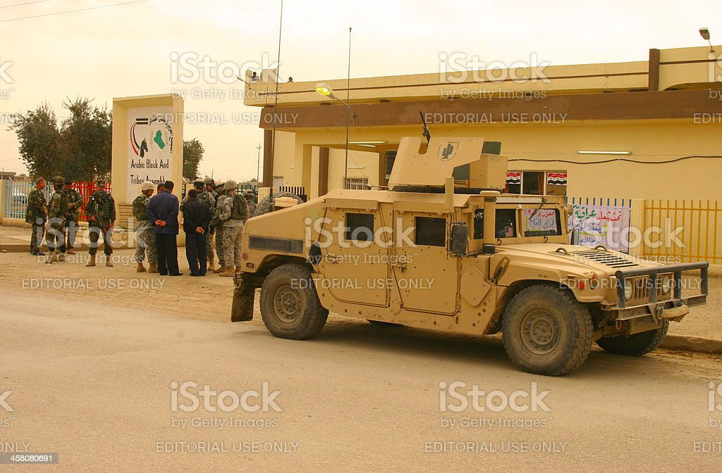 Us Soldiers in Kirkuk stock photo