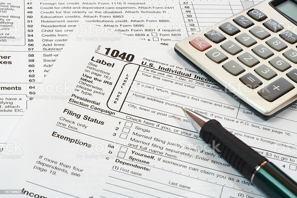 us tax form royalty-free stock photo