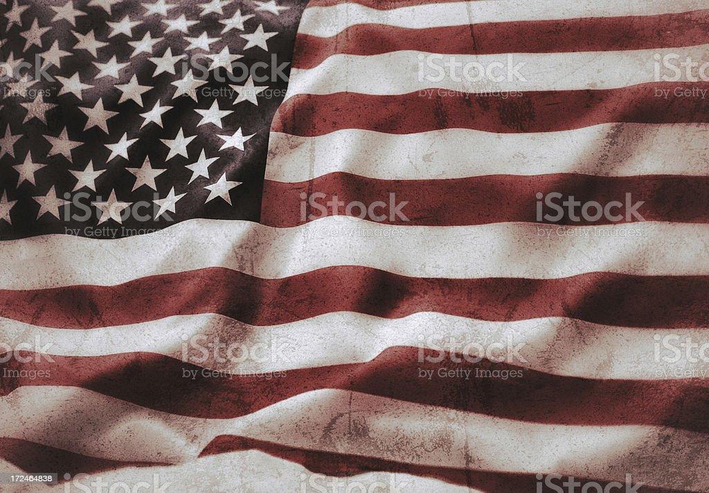 Us vintage flag royalty-free stock photo
