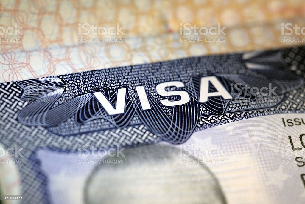 Us Visa royalty-free stock photo