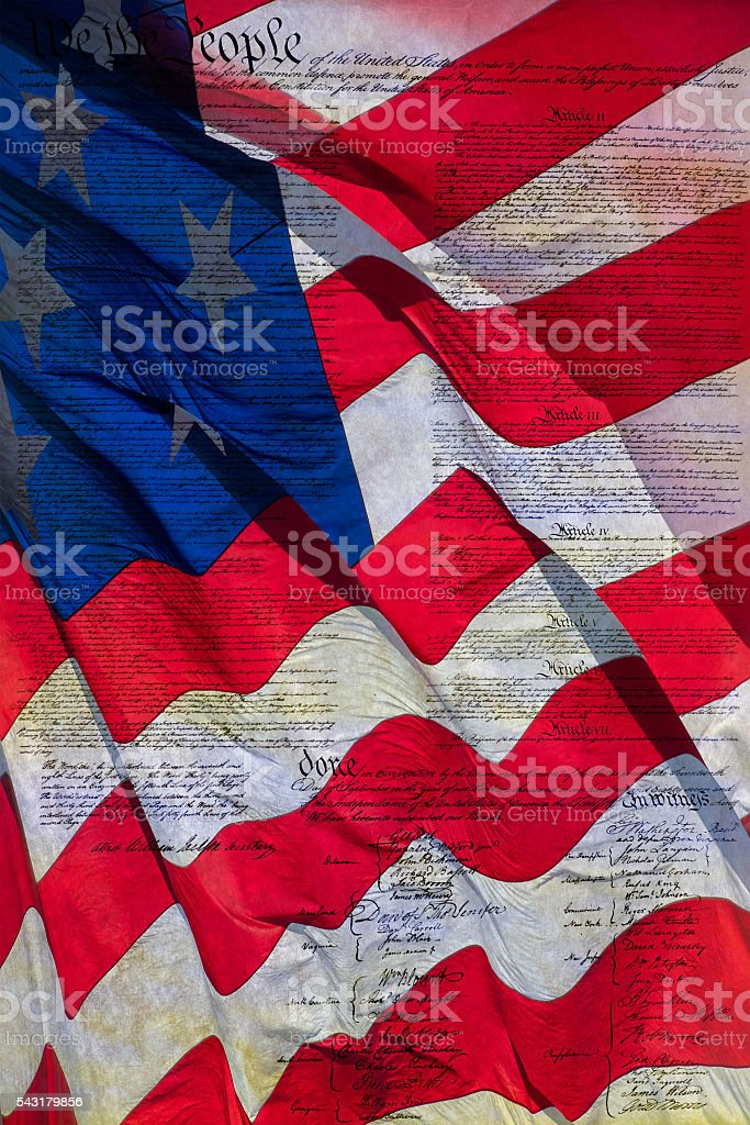 usa america constitutional law 4th july stock photo