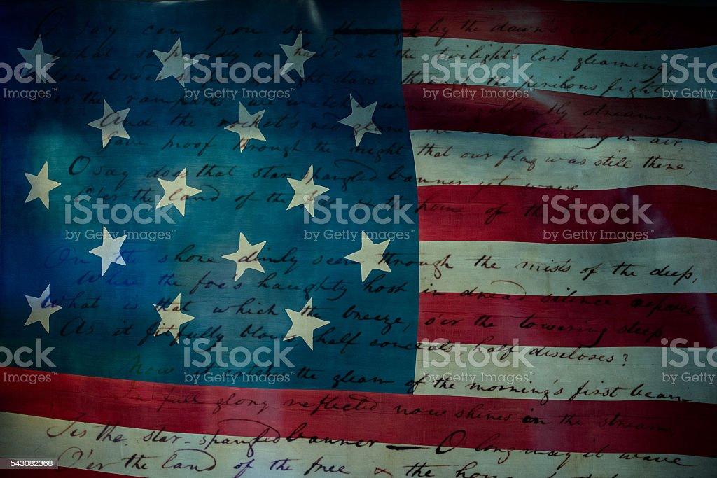 Usa America national anthem Star Spangled Banner stock photo