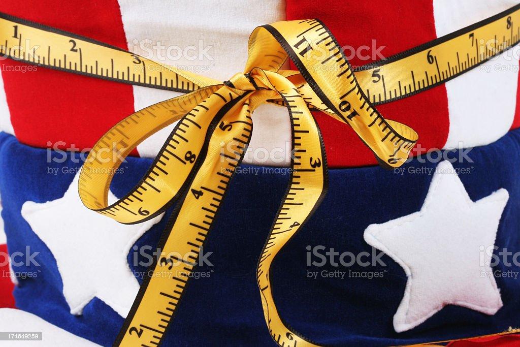 Usa and mesuring tape stock photo