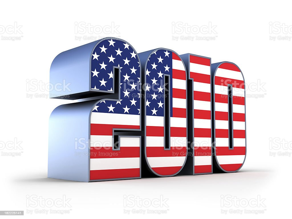 usa flag 2010 royalty-free stock photo