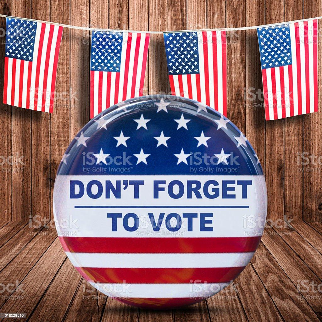 usa presidential election badge stock photo