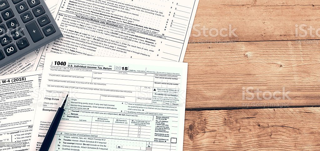 usa taxes concept stock photo