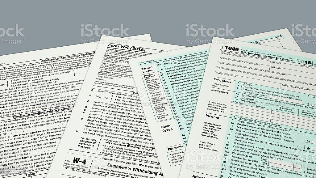 usa taxes concept stock photo