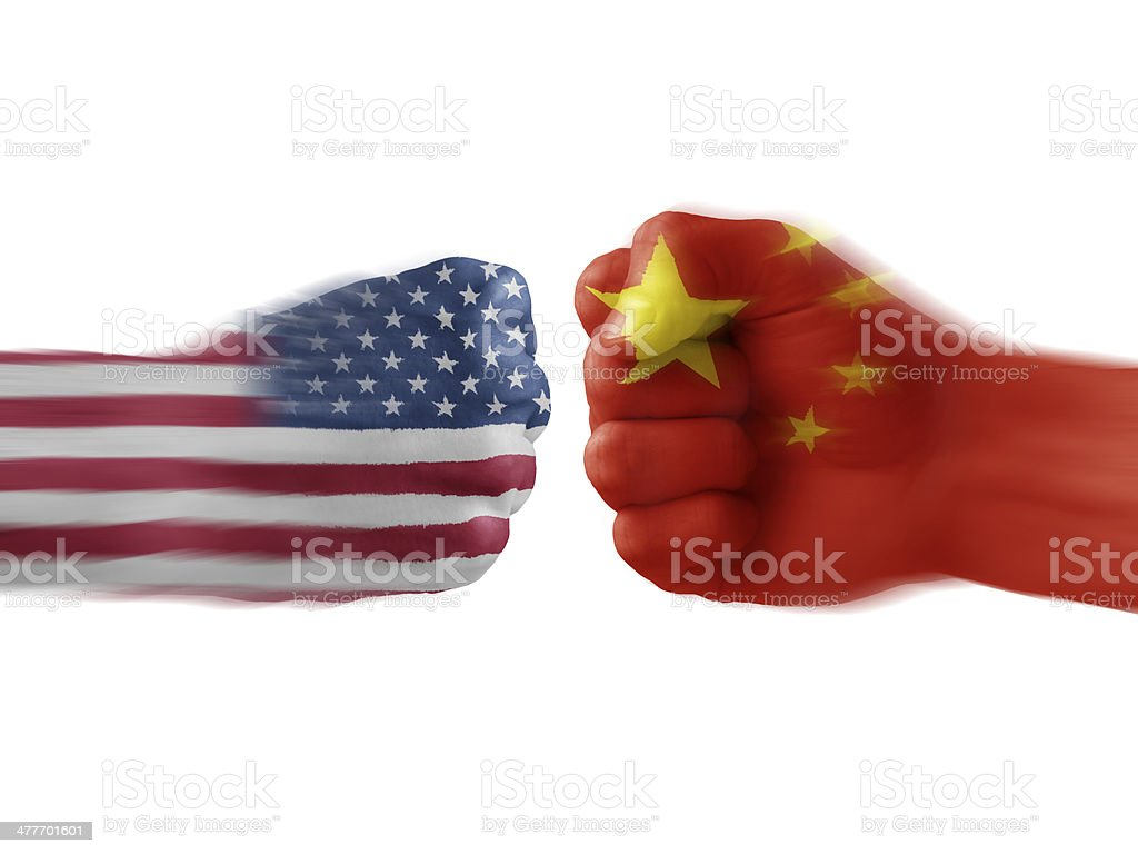 usa x china stock photo