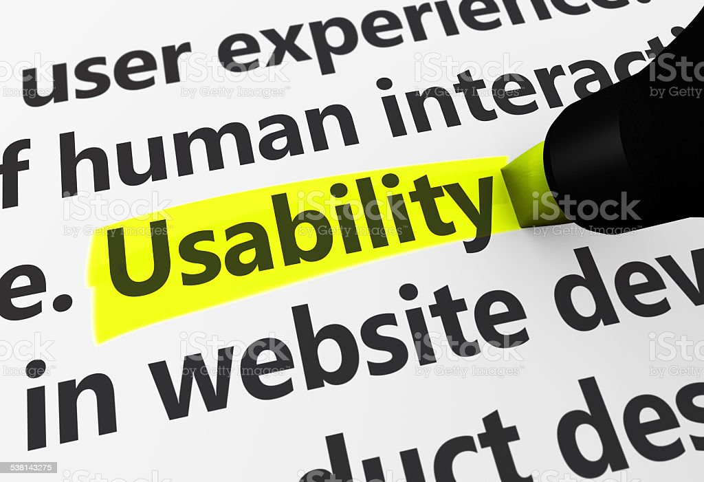 Usability stock photo
