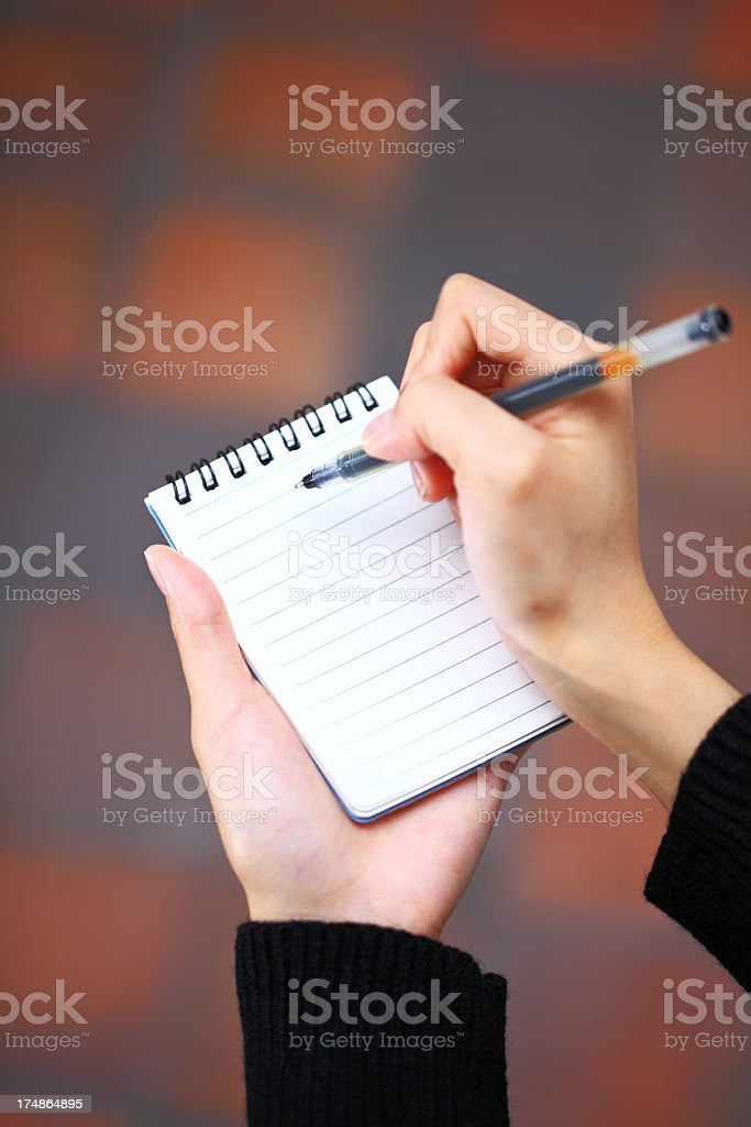 usage of notepad royalty-free stock photo