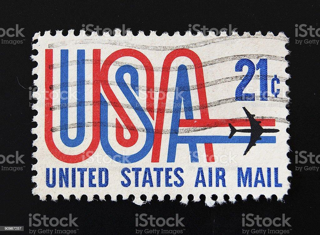 USAirmail Postage Stamp stock photo