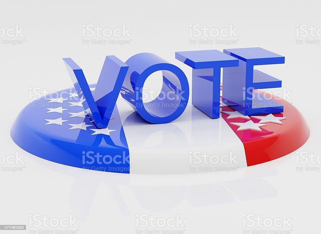 Usa's Vote royalty-free stock photo