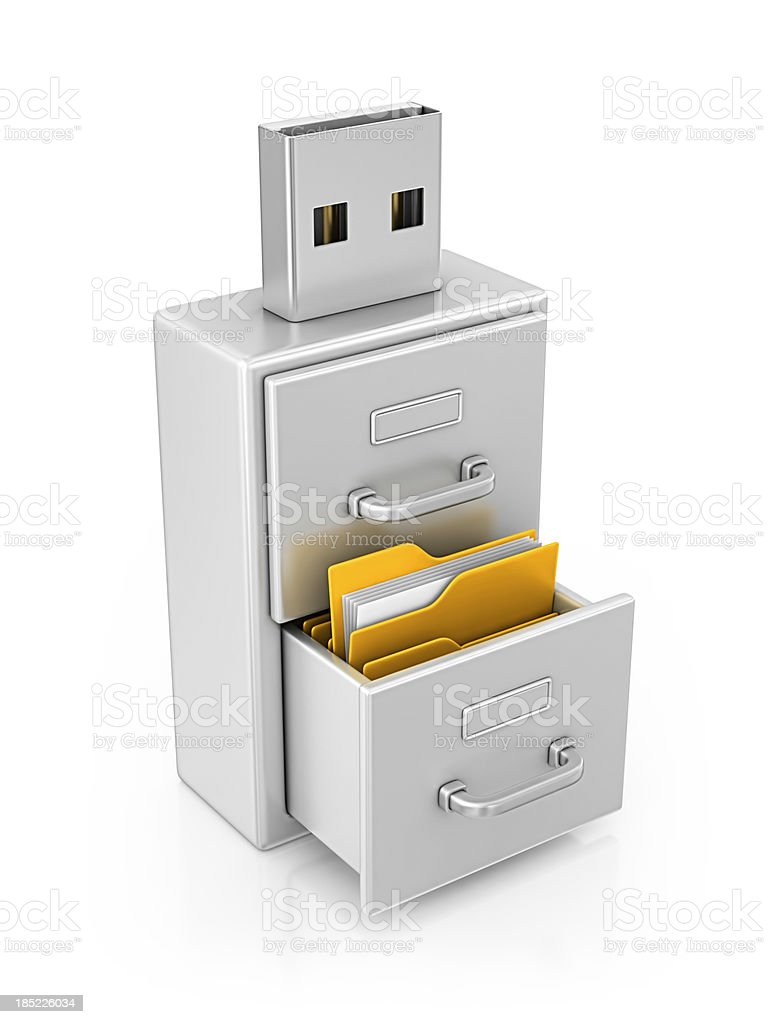 usb archive royalty-free stock photo