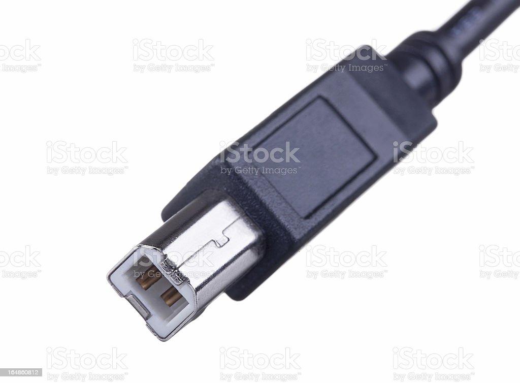 usb B plug macro close up royalty-free stock photo