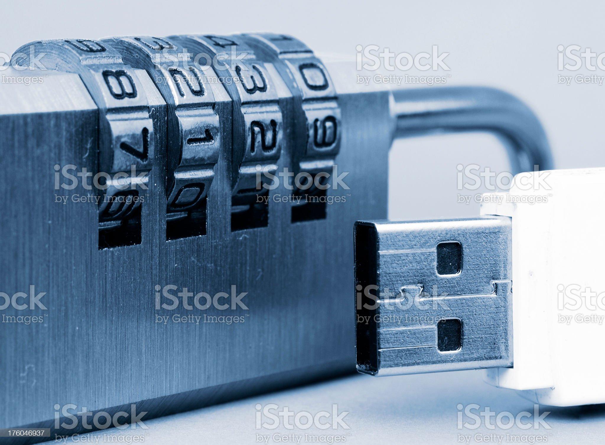 Usb lock royalty-free stock photo