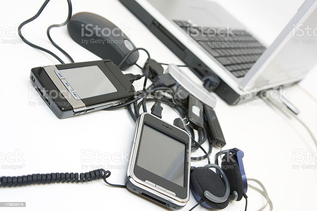 usb mess royalty-free stock photo