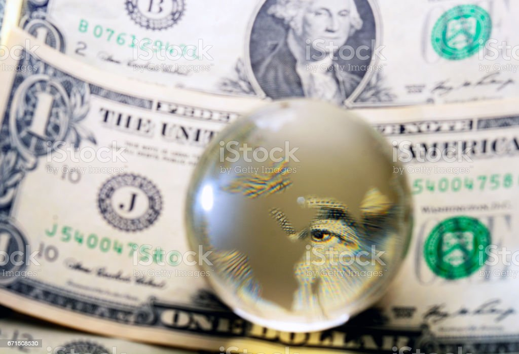usd dollar bill eye stock photo