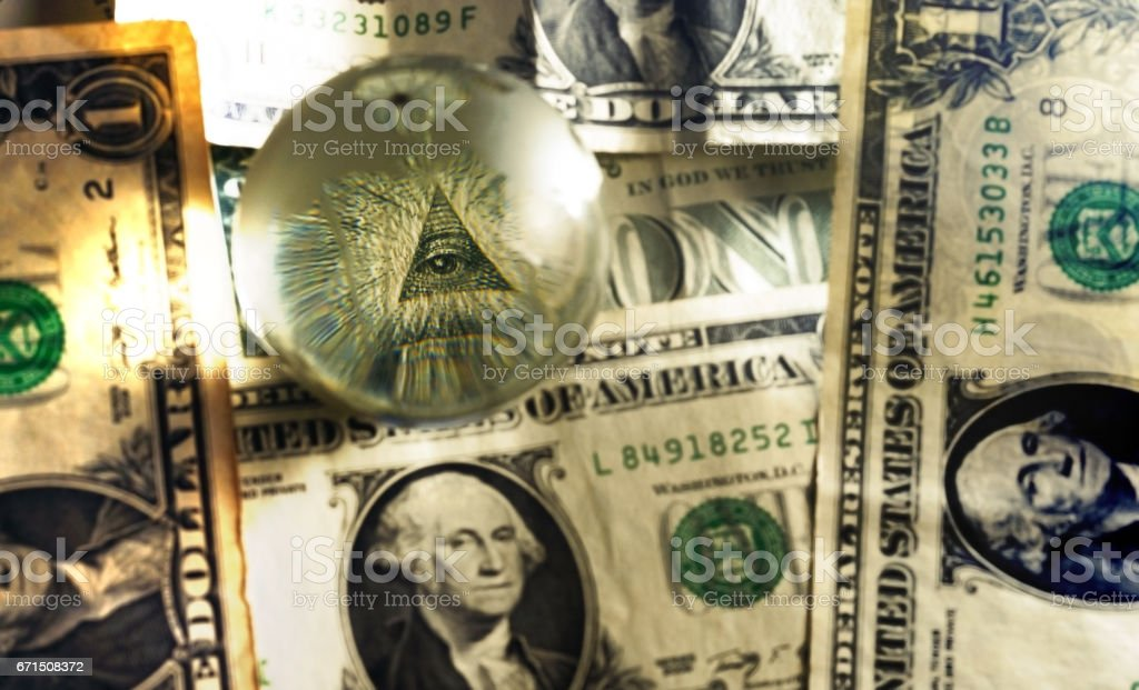 usd dollar bill eye pyramid mason stock photo