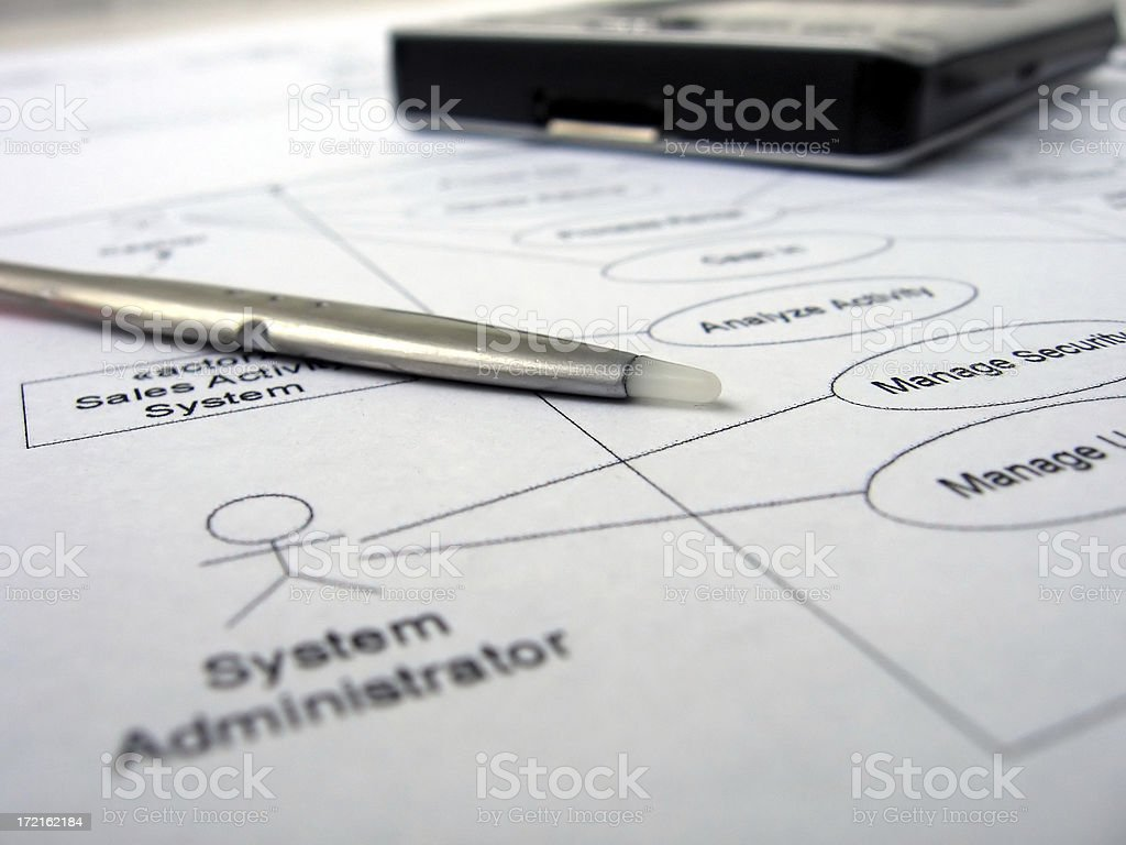 use case diagram royalty-free stock photo
