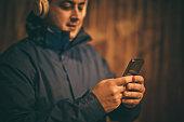 Use smart phone at night.