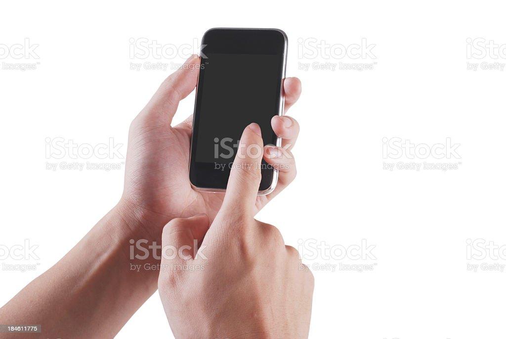 use smart phone royalty-free stock photo