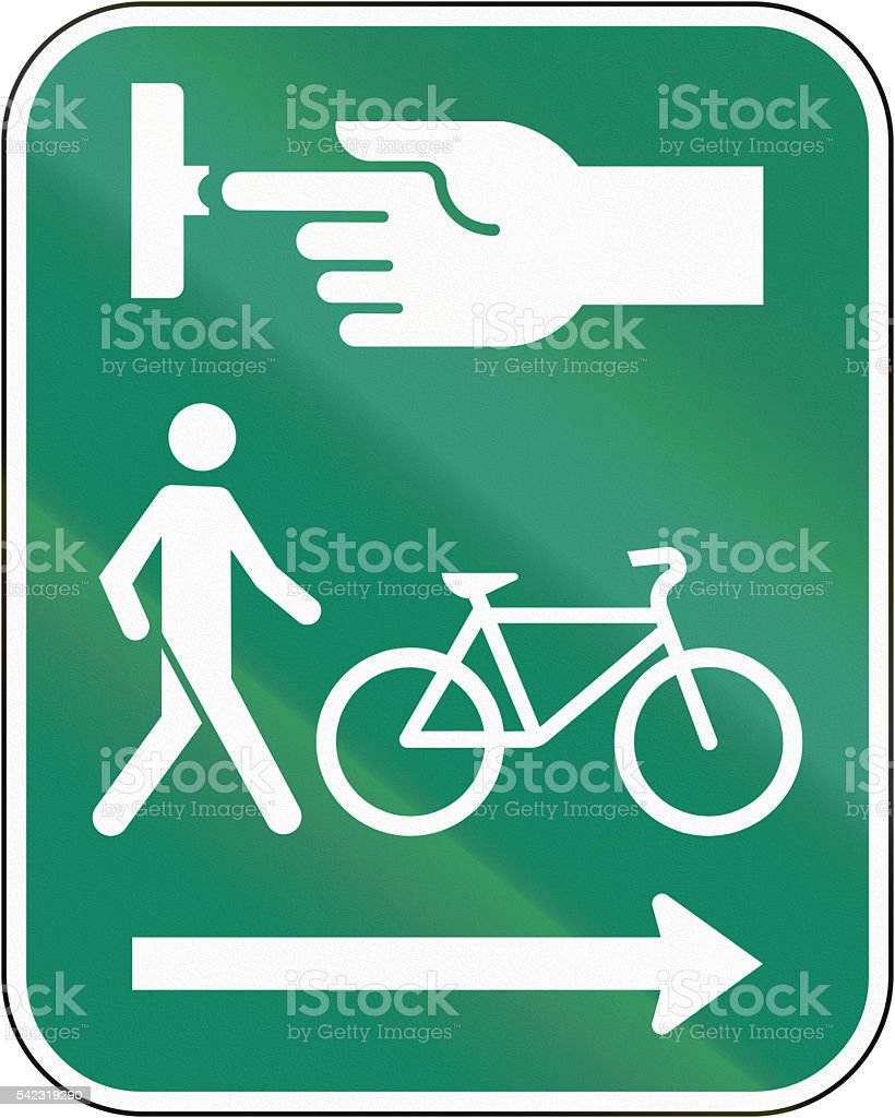 Use The Crosswalk device For Pedestrians And Cyclists In Canada stock photo