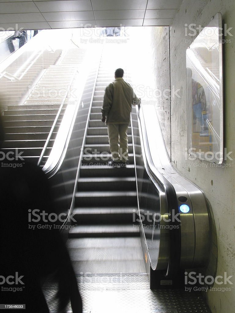 use the escalator! royalty-free stock photo