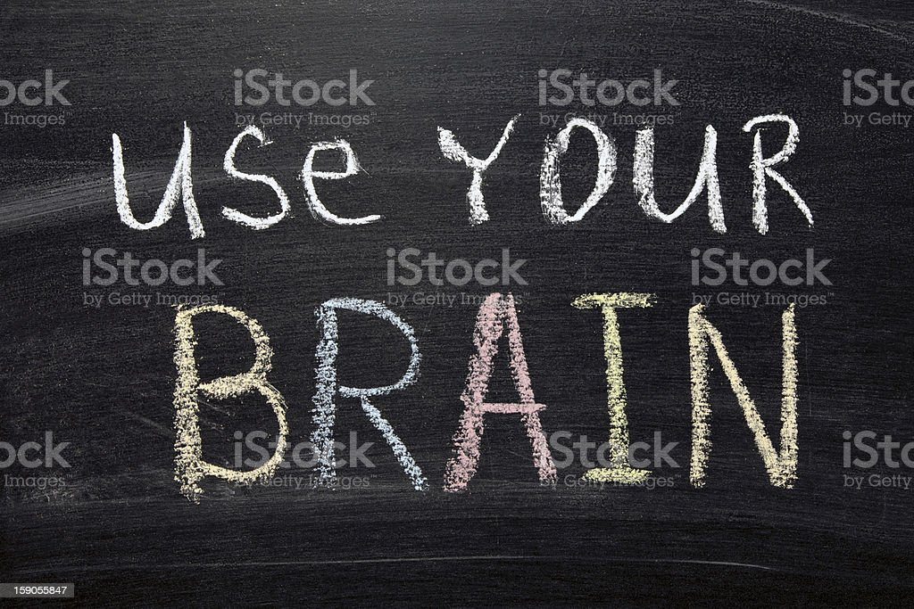 use your brain royalty-free stock photo