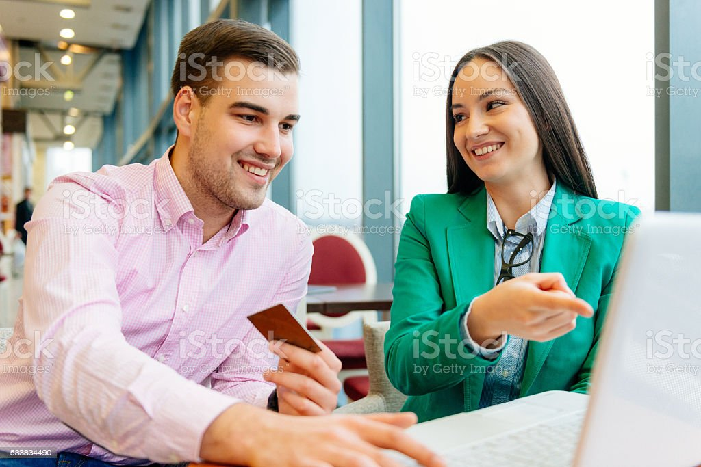 Use your credit card to buy me things and stuff stock photo