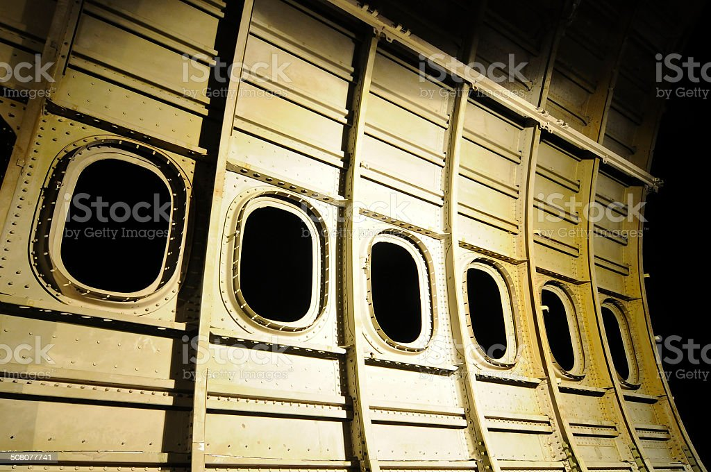 Used Airplane construction stock photo