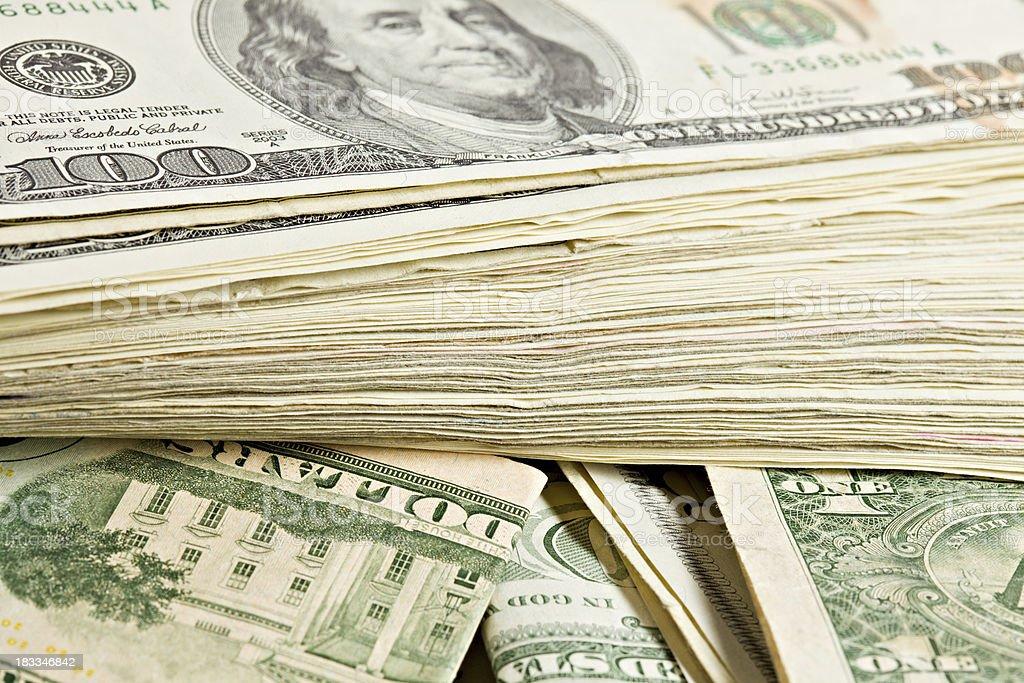 Used American Bills stock photo