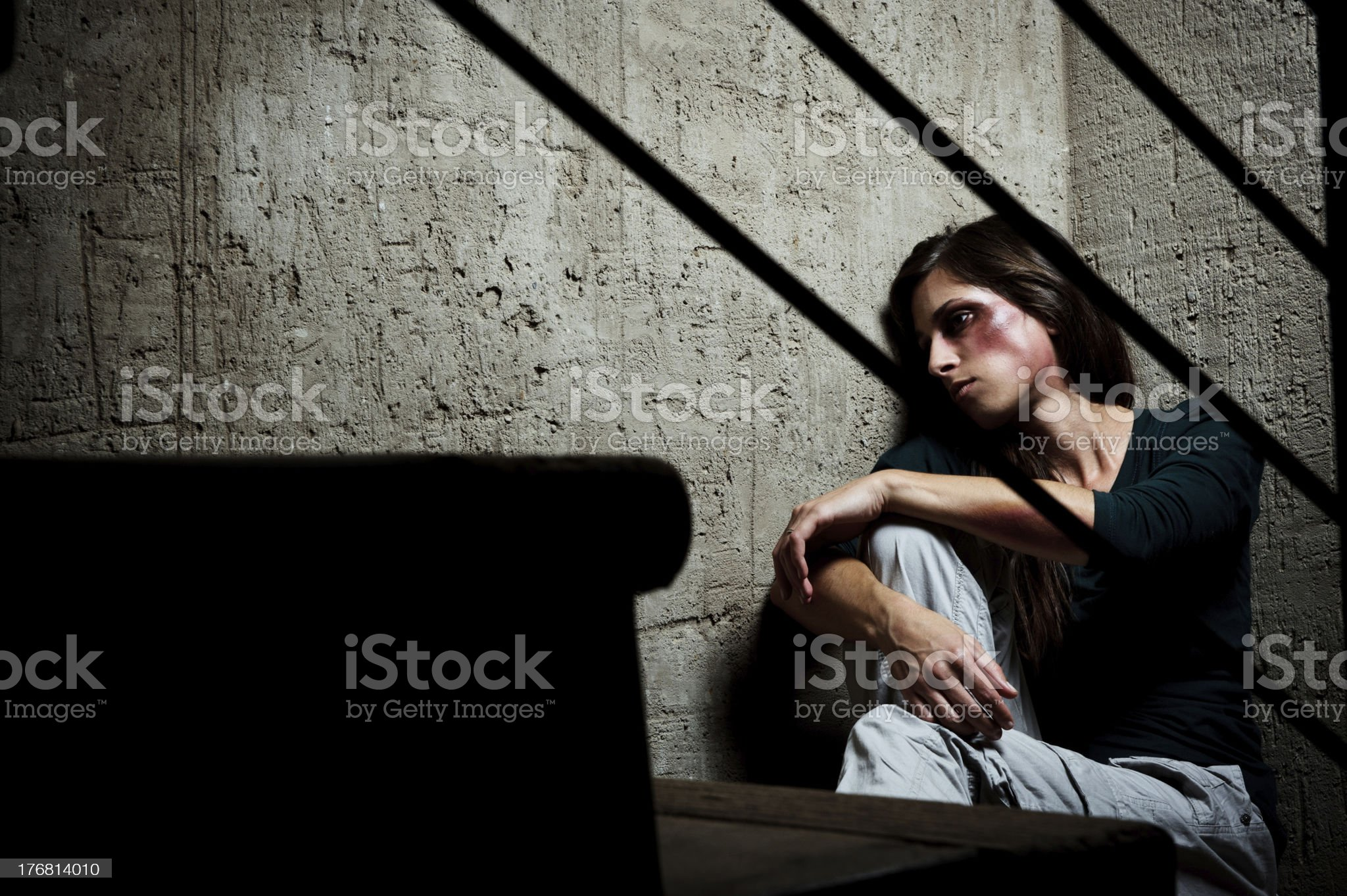 Used and abused; domestic violence concept royalty-free stock photo