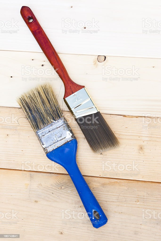 Used and new paint brush royalty-free stock photo