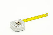 Used and old measuring tape