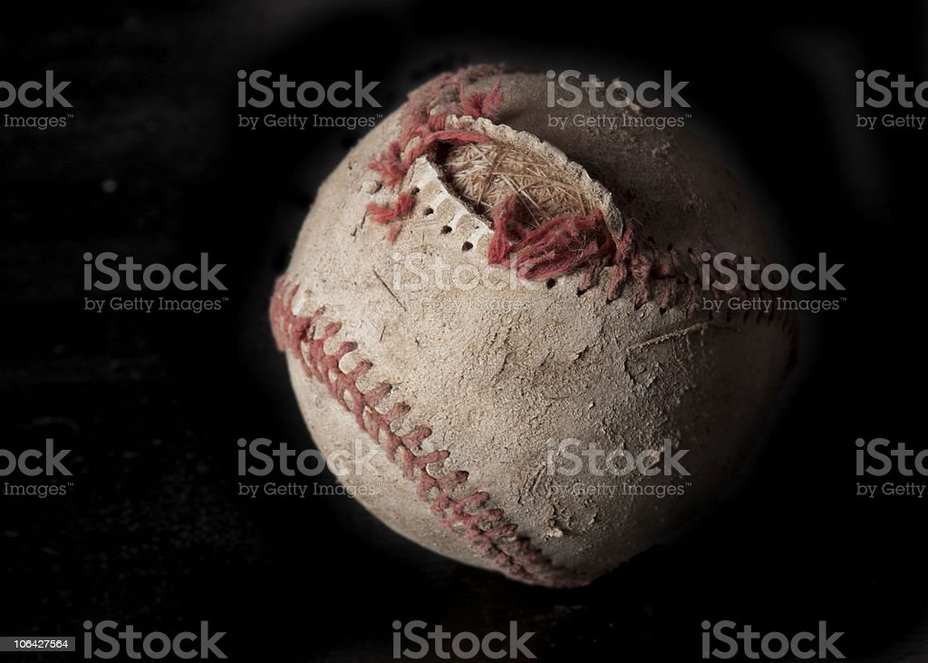 Used baseball royalty-free stock photo