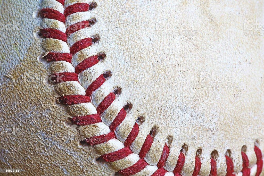 Used baseball royalty-free stock photo