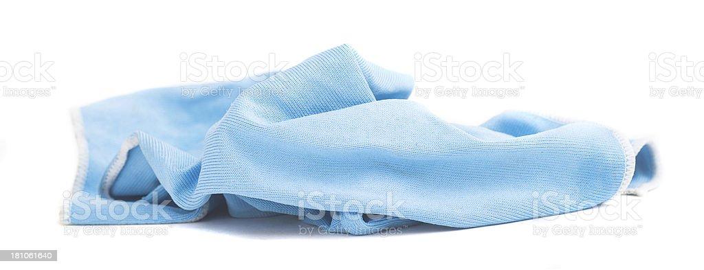 used blue rag - blauer Lappen royalty-free stock photo