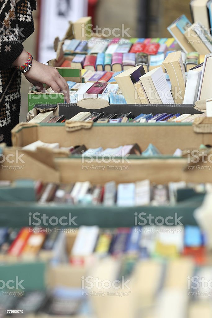 Used book sale stock photo