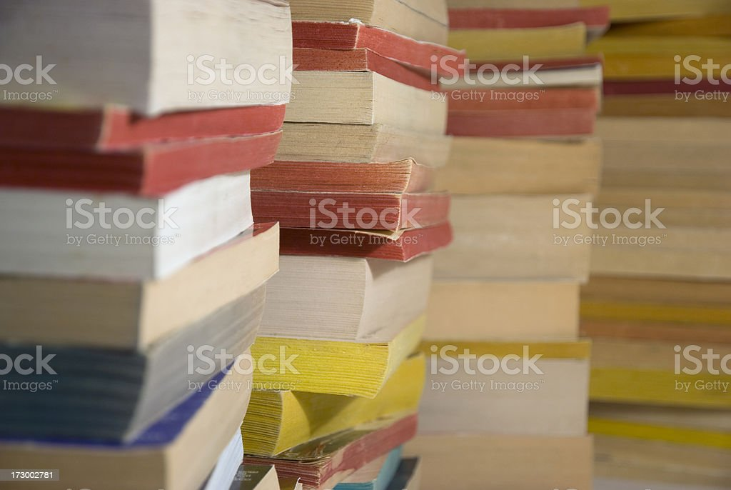 used books in stacks royalty-free stock photo