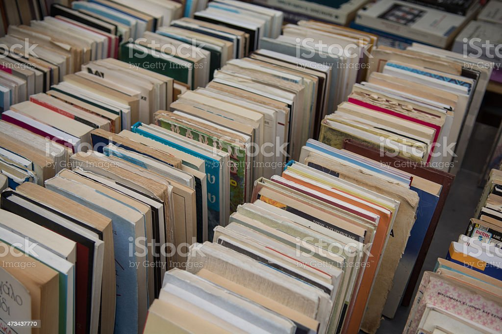 Used books stock photo