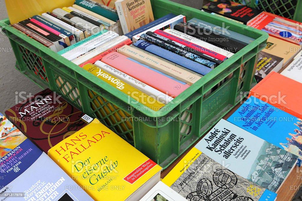 used bookstore at Berlin Kreuzberg (Germany) stock photo