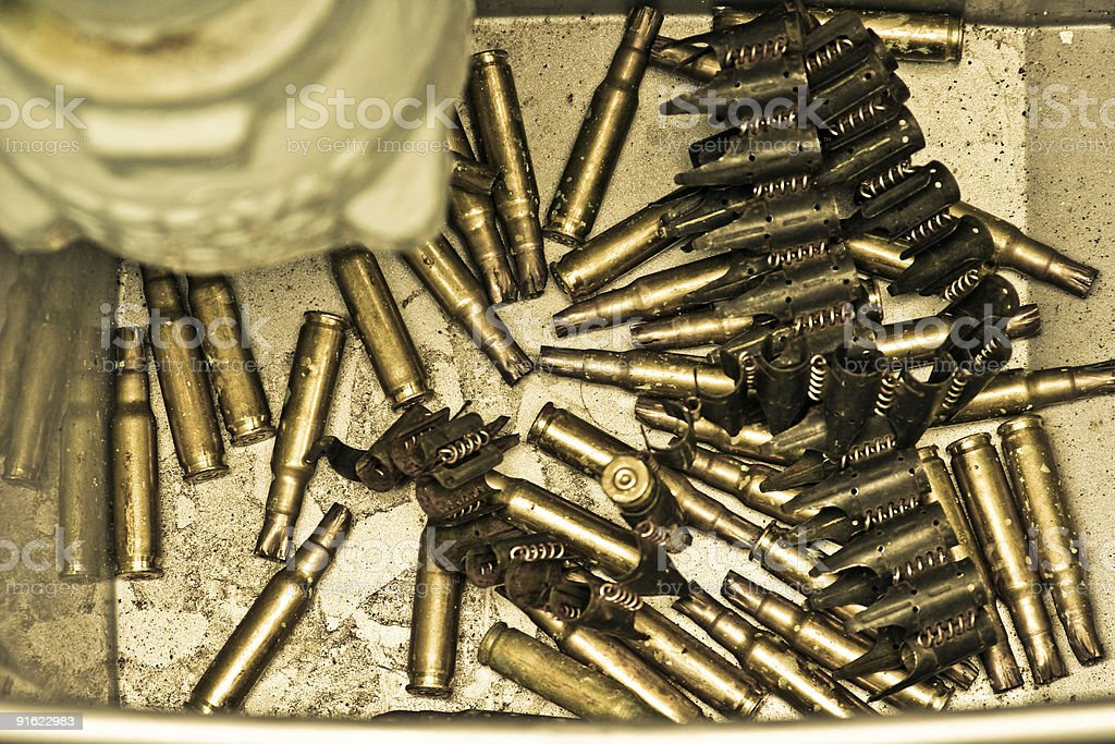 Used bullets royalty-free stock photo